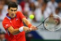Novak Djokovic battles Radek Stepanek during their Davis Cup final match in Belgrade. Photo: EPA