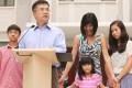 Ambassador Gary Locke and his family. Photo: SCMP