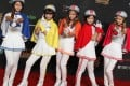 Girl group Crayon Pop strike a pose for their fans during the Mnet Asian Music Awards at AsiaWorld-Expo last night. Photo: K. Y. Cheng