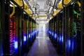 A Google network room at a data centre in Council Bluffs, Iowa. The NSA has infiltrated the cable links to Google's data centres. Photo: AP