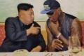 """Dennis Rodman (left) with """"friend"""" Kim Jong-un. Photo: Reuters"""