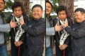 Photos showing two Hunan officials mocking a cancer-stricken petitioner is widely circulated on China's cyberspace. Photo: SCMP Pictures