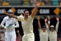 Mitchell Johnson proved a thorn in England's side in the first test in Brisbane. Photo: AFP