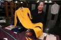 Anna Lee shows off Bruce Lee's jumpsuit. Photo: Edward Wong