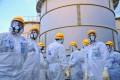 Members of an IAEA mission inspect the crippled Fukushima nuclear plant. Photo: AFP