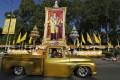 Thai King Bhumibol Adulyadej grants a public audience on his 86th birthday. Photo: EPA