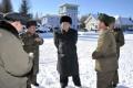North Korean leader Kim Jong-un with military aides. Photo: AFP
