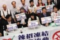 Industry groups protest against the measures. Photo: SCMP