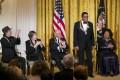 Carlos Santana, Shirley MacLaine, Billy Joel, Herbie Hancock and Martina Arroyo. Photo: EPA
