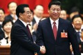 Analysts have said Xi Jinping's (right) roles as head of economic reform and national security groups would give him more power than his predecessor Hu Jintao (left) but liberal party elders say this could prove a double-edged sword. Photo: Reuters