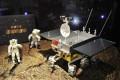 A model of lunar rover Yutu, or Jade Rabbit. Photo: Xinhua