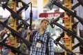 A display of rifles at the 35th annual SHOT Show. Photo: AP
