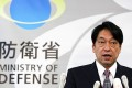 Japan's Defence Minister Itsunori Onodera speaks at a news conference at the Defence Ministry in Tokyo. Photo: Reuters