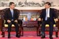Leung Chun-ying briefs President Xi Jinping in Beijing yesterday on the latest developments in Hong Kong. Photo: SCMP