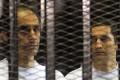 Alaa (right) and Gamal Mubarak, sons of ousted Egyptian president Hosni Mubarak. Photo: AFP