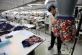 Workers at a clothing factory in Kaesong. Photo: Xinhua