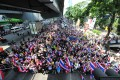 Thai anti-government protesters march on Bangkok's streets on Friday 2013. Photo: Xinhua