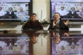 Supporter Mannie Lin (left) joins Benny Tai for an online chat with activists in Canada during Lin's visit to Hong Kong. Photo: Sam Tsang