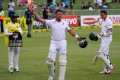 Jacques Kallis acknowledges the applause at the end of the third day's play against India in the second test. Photo: AFP