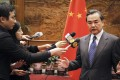"""Wang Yi raised """"problems with Japan"""" in his calls. Photo: Reuters"""