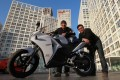 Nathan Siy (left) and Brandon Ng say ElectroForce is currently working with a few dealers in Beijing for its electric bikes, which will be launched in March. Photo: Simon Song