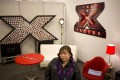 Filipino helper Rose Fostanes prepares to take part in a rehearsal in Tel Aviv forThe X Factor Israel, which has made her a star. Photo: AP