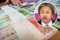 Hong Kong dollar banknotes and Financial Secretary John Tsang Chun-wah (inset). Photos: David Wong, K.Y. Cheng