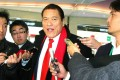 Antonio Inoki is a frequent visitor to North Korea. Photo: AFP