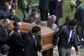 The coffin of Monica Spear at her funeral on Friday. Photo: AP