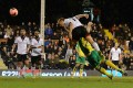 Steve Sidwell scores Fulham's third goal in their 3-0 FA Cup third-round win over Norwich. Photo: AFP