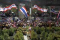 Anti-government protesters in central Bangkok on Thursday. Photo: Reuters