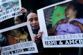 Protesters call for support for abused Indonesian maid, Erwiana Sulistyaningsih. Photo: K. Y. Cheng