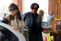 Politician Shashi Tharoor with his wife Sunanda Pushkar. Photo: AFP