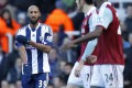 Anelka performs the controversial gesture during West Brom's 3-3 draw at West Ham United in the Premier League in late December. Photo: AFP