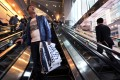 Photography taken up the skirts of women happens most often on ascending escalators, where offenders stand behind the victim on the steps, police data shows. Photo: AFP