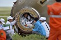 Chinese astronaut Nie Haisheng in China's Shenzhou-10 spacecraft after it landed at its main landing site in Inner Mongolia Autonomous Region. China has overtaken the EU in expenditure on science and technology as a percentage of its GDP. Photo: Reuters