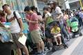 Parents queue for forms