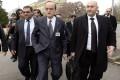 Syrian opposition chief negotiator Hadi al-Bahra (centre) arrives at the Geneva II peace talks on Saturday. Photo: AFP