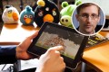 The Angry Birds game can be used to mine personal data from users, including sexual orientation, according to papers leaked by Edward Snowden (inset). Photos: Bloomberg, AFP