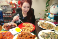 Park Seo-Yeon, AKA The Diva, hosts an eating performance. Photo: SCMP Pictures