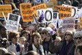 Pro-abortion demonstrators from across Spain rally in Madrid.Photo: AFP