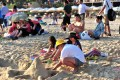 Tourists on a beach in Sanya. Hainan authorities have announced a crackdown on nude sunbathers. Photo: Xinhua