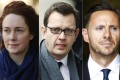 Brooks, Coulson and investigator Glenn Mulcaire. Photos: Reuters, AP