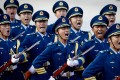 Members of a PLA guard of honour at the Great Hall of the People in Beijing last year. Photo: EPA