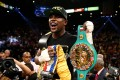 At 45-0 with 26 knockouts, Floyd Mayweather is approaching the 46-0 career mark of retired Welsh star Joe Calzaghe and the iconic 49-0 mark of heavyweight legend Rocky Marciano. Photo: AFP