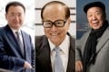 The three richest men in the country: Wang Jianlin (left), Li Ka-shing (centre) and Lui Che-woo. Photos: Bloomberg, AFP