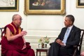 US President Barack Obama (right) met  earlier this week with the Dalai Lama in the White House's Map Room, neutral ground which does not signal that the Tibetan spiritual leader is a head of state. Photo: EPA