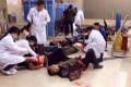 Online pictures showed doctors treating the injured. Photo: SMP