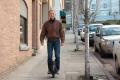Inventor Shane Chen rides his Solowheel to work. Photo: Inventist