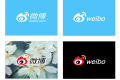 Various promotional images of Weibo's new, simplified logo. Photo: SCMP Pictures